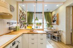 Konyhafelújítás lakótelepi lakásban - 14m2-es helyiségből hangulatos konyha étkezővel olvasósarokkal kis vidéki és retro hangulattal