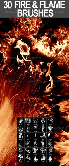 by nada-images 30 Fire & Flame Brushes Included file formats abr (Photoshop Brush File) jpg Source Files, Pixel, psd (Sta. Photoshop Design, Photoshop Tutorial, Actions Photoshop, Effects Photoshop, Free Photoshop, Photoshop Brushes, Photoshop Elements, Advanced Photoshop, Firealpaca Brushes