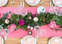 Pretty Pink Pastel Tablescape, Floral Arrangement,  http://www.tiethatbindsweddings.com/