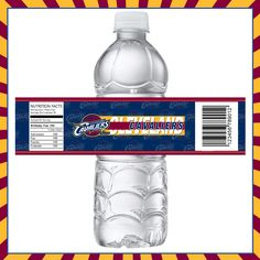 Cleveland Cavaliers Bottle Labels great for birthday, tailgating, man room.
