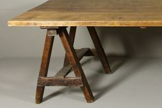 Trestle Table 19th Century