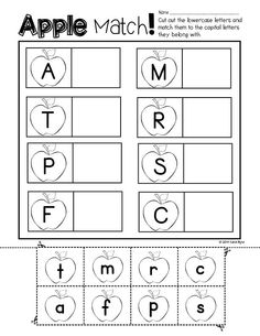 Print and Go! Back to School Math and Literacy - Easy to use black & white… Kindergarten Themes, Preschool Kindergarten, Classroom Activities, Alphabet Activities, First Year Teachers, Preschool Letters, Letter Recognition, Beginning Of School, Apple Theme