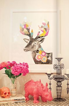 Adore Home magazine via Gild and Grace - adore this art!