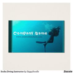Scuba Diving Instructor Business Card
