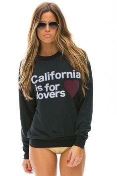 CALI IS 4 LOVERS SWEATSHIRT - CHARCOAL - Aviator Nation - 1