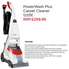 Clean full rooms and tough messes with ease. The BISSELL PowerWash Plus™ is powerful cleaning system that delivers a deep clean and convenient spot cleaning.