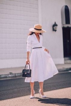34 Vintage Summer Outfit for Women You'll Love Modest Outfits, Classy Outfits, Dress Outfits, Cute Outfits, Fashion Outfits, Dress Ootd, Maxi Dresses, Fashion Women, Sophisticated Outfits