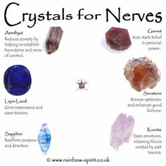 Crystals for Nerves