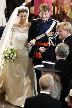 Prince Pieter-Christiaan van Orange-Nassau, van Vollenhoven marries Princess Anita van Eijk at the Grote of St. Jeroenskerk in Noordwijk, in the Netherlands. Iconic Royal Weddings Dresses & Photos (Vogue.com UK) (Vogue.com UK)