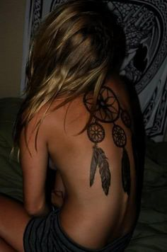 Even though dream catcher tattoos are overrated, this one is badass. Love it <3