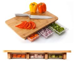 Cutting Board♡With Compartments