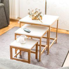 3-er Set #Beistelltische im #skandinavischen Style!