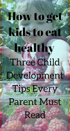 how to get kids to eat healthy / child development / http://themommyprofessor.org/how-to-get-kids-to-eat-healthy-three-child-development-tips-every-parent-must-read/