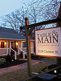 Table & Main, a southern tavern and bourbon bar located in Roswell, GA. | Simple. Seasonal. Southern.