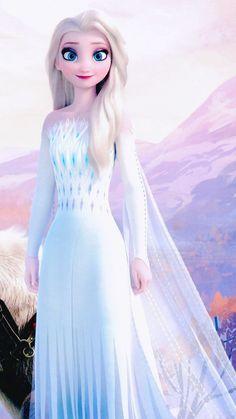 Elsa with open hair and beautiful dress Disney Princess Fashion, Disney Princess Drawings, Disney Princess Art, Disney Princess Pictures, Images Of Princess, Princesa Disney Frozen, Disney Frozen Elsa, Frozen Movie, Frozen Wallpaper