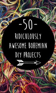 50 Ridiculously Awesome Bohemian #DIY Projects {Boho hippie home decor, bath & beauty, jewelry, clothing & accessories}