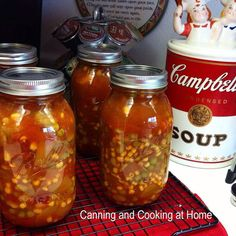 A soup for all seasons but, warming us up when Winter hits will do just fine! , A soup for all seasons but, warming us up when Winter hits will do just fine! Preserving the harvest when those Winter Blues set in! Canning Vegetable Soups, Canning Soup Recipes, Homemade Vegetable Soups, Canning Vegetables, Canning Tips, Canning Tomatoes, Vegetable Soup Recipes, Homemade Soup, Veggies