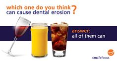 Tips to avoid dental erosion:  1. Regular health check-ups 2. Reduce consumption of acidic drinks 3. Brush your teeth after consuming acidic drinks  Visit Smilefocus today and get a thorough dental exam!  Orthodontics & Children's Dentistry | 6834 0877  Cosmetic Dentistry | 6733 9882  Family Dentistry | 6834 0877  Implant & Restorative Dentistry | 6733 9882  www.smilefocus.com.sg  #dentalerosion #dentaltips #smilefocus #singapore #singaporedentist