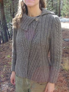 Ravelry: NatlParkNitter's Cabled Jacket. Free