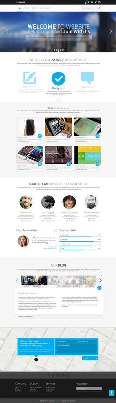 PSD Templates - iResources - Creative One Page portfolio PSD Theme - Zizaza item for sale $9