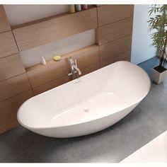 Riho solid surface vrijstaand bad Granada 190x90cm - BS20 - Sanitairwinkel.nl