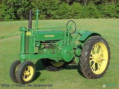 Antique old John Deere Farm Tractor