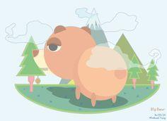 곰/일러스트/bear/illust/illustlation
