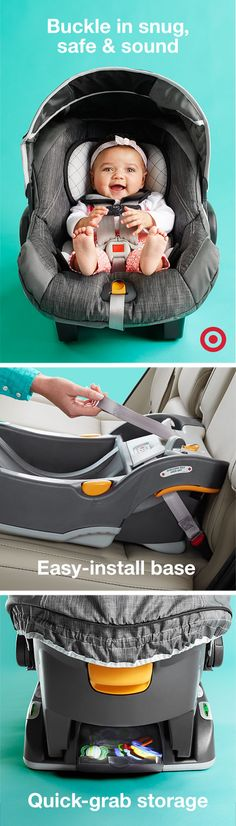 Hit the road in style with the Chicco KeyFit 30 infant car seat and base. It's LATCH-compatible and includes a removable insert for your newborn, a thickly cushioned seat and lots of energy-absorbing foam. This seat cradles your precious cargo from a newborn to up to 30 lbs.