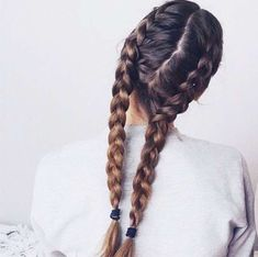 Hair Styles 2018 French braid pigtails Discovred by : Byrdie Beauty Greasy Hair Hairstyles, Easy Hairstyles For Long Hair, Everyday Hairstyles, Diy Hairstyles, French Hairstyles, Pigtail Hairstyles, Haircuts, French Braid Pigtails, Pigtail Braids