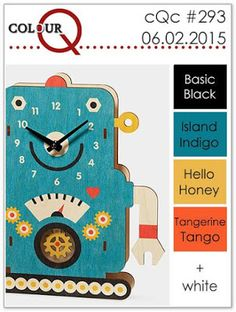 colourQ: colourQ challenge #292...Basic Black, Island Indigo, Hello Honey, Tangerine Tango