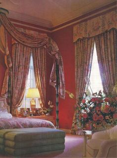 Master Bedroom by Valerian Rybar for Claudette and Murray Candib published AD 1987