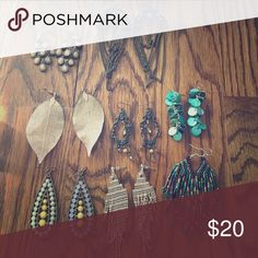 8 pair bulk of name brand earrings! Great deal for name brand products such as Nordstrom, lucky brand, Kirra, etc. ITEMS CAN BE BOUGHT SEPARATE TOO! Jewelry Earrings
