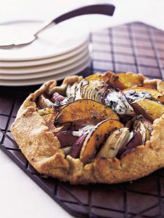 Butternut Squash, Apple and Onion Galette with Stilton