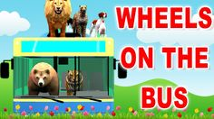 Animal Nursery Rhymes with Lion Tiger Bear Cartoons | The Wheels on The ...