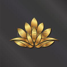 Luxury Gold Lotus plant image. Stock Vector - 42091555