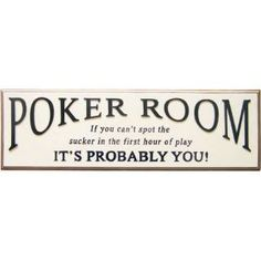 Shop RAM Game Room Products Framed Poker Room Sign x Wall Art at Lowe's Canada online store. Find Art & Wall Decor at lowest price guarantee. Room Signs, Wall Signs, Man Cave Must Haves, Pool Table Accessories, Game Room Furniture, Video Game Posters, Air Miles Rewards, Pub Signs, Fashion Room
