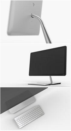 VIZIO ALL-IN-ONE DESKTOP PC - elegant minimal design statement The Vizio All 26a5a13878eb