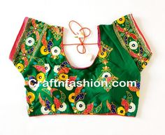 Navratri wear Embroidered Cotton readymade Blouse- Indian Ethnic Embroidered Blouse