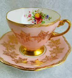 FOLEY Pale Pink English Bone China Tea Cup and Saucer, Vintage Tea Party, Pink Teacup Vintage Wedding, by HoneyandBumble on Etsy