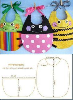 ARTE COM QUIANE - Paps,Moldes,E.V.A,Feltro,Costuras,Fofuchas 3D: 4 moldes novos: Babador, toalha para bebê e capa de amamentação