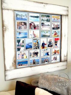 Lake Girl Paints: Build a Photo Display Board | #DIY #crafts #wall decor inspiration Ideas | photography dispaly
