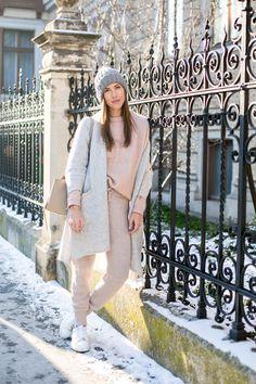 Oversize mantel stylen