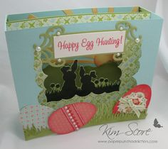 happy egg hunting diorama by needmorestamps - Cards and Paper Crafts at Splitcoaststampers