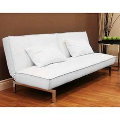 White futon, $229. Walmart purchase guilt, priceless. #modern #sofa