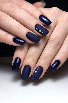 77 Stylish Simple Geometric Designs Trendy Ideas for 2019 nail art blue - Nail Art 77 Stylish Simple Geometric Nail Art Designs Trendy Ideas For 2019 Beautiful Nail Designs, Beautiful Nail Art, Cute Nails, Pretty Nails, Gel Nails, Acrylic Nails, Nail Polish, Coffin Nails, Navy Blue Nails