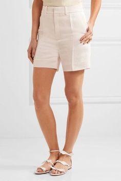 Chloé - Linen And Silk-blend Twill Shorts - Ivory - FR42