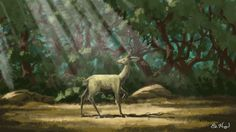 A solitary male Deer in the dense forest :) An imaginary art Work.