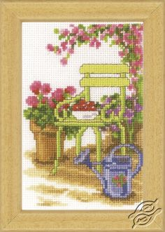 Garden Chair - Cross Stitch Kits by VERVACO - PN-0003720