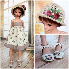 """NEW! OOAK Outfit with shoes """"Victorian roses. Bordeaux"""" for slim MSD Minifee ( A,B bust ) by TashkasBears on Etsy"""