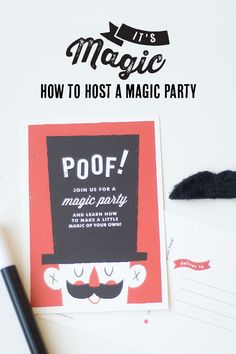 """"""" Magician Birthday Invitation Photo by confettisunshine. Learn Magic Tricks, Magic Tricks For Kids, Sibling Birthday Parties, Birthday Party Themes, Birthday Ideas, Magic Birthday, Baby Birthday, Magician Party, Dora And Friends"""